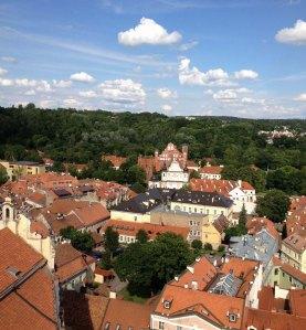 Vilniaus senamiestis nuo Šv.Jonų bažnyčios varpinės