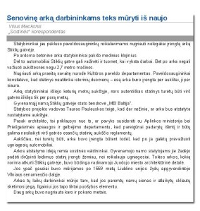 Lietuvos ryto straipsnis