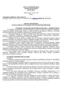 Savivaldos įstatymas p1