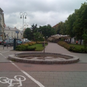 Vis dar neveikiantis fontanas Vokiečiųgatvėje