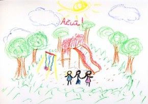Ačiū už vaikų žaidimo aikštelę Rūdninkųskvere