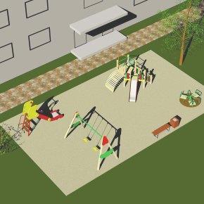 Vaikų žaidimo aikštelės įranga iš VBTlėšų