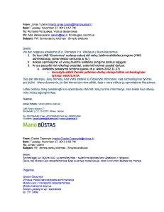 2012-11-27 Mano Būstas email Senamiesčio Seniūnui