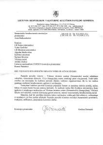 01-15-13 Kulturos Paveldo Komisija re Senatas