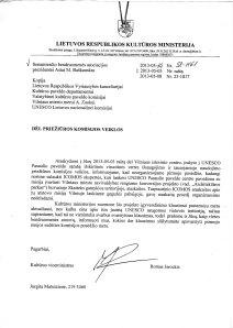 2013-05-04 Kultūros Ministerija - dėl posėdžio