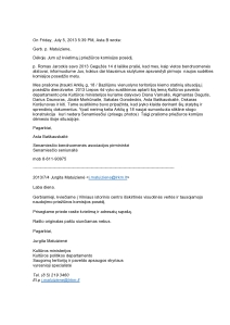 2013-07-05 prašymas dėl posėdžio dienotvarkės papildymo