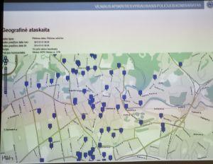 plėšimai (prievarta atimamas turtas) 2013 pagal gatves