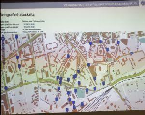 plėšimai (prievarta atimamas turtas) 2013 pagal gatves 2