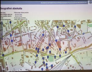 plėšimai (prievarta atimamas turtas) 2013 pagal gatves 3