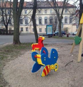 Atnaujintos vaikų žaidimoaikštelės